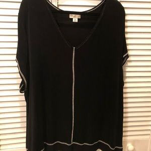 Black Short Sleeve Top by Coldwater Creek